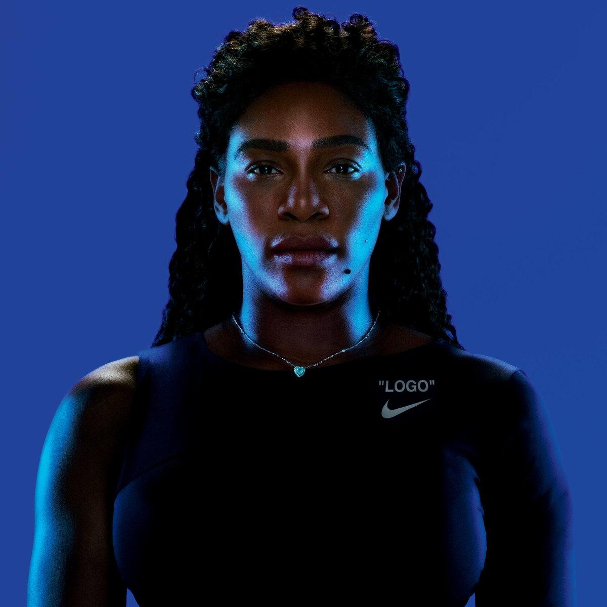 Serena Williams in Nike x Virgil Abloh for Serena Williams Dress. Photo: Nike
