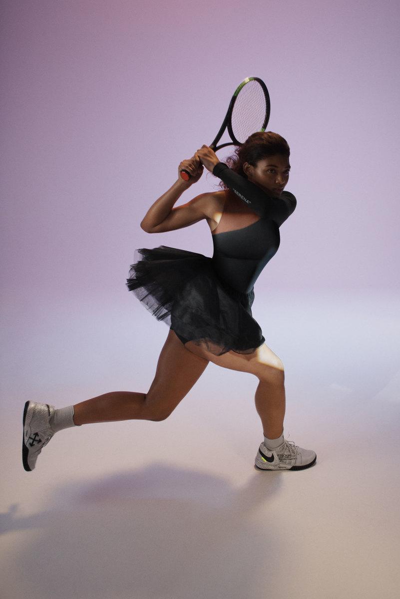 Nike x Virgil Abloh for Serena Williams Dress in Black. Photo: Nike
