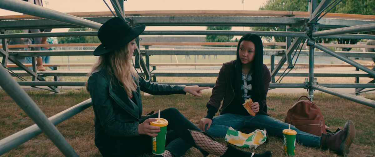 Chris (Madeleine Arthur) and Lara Jean. Photo: Awesomeness Films