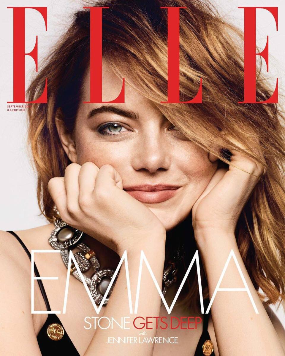 Emma Stone on the cover of Elle. Photo: Ben Hassett/Elle