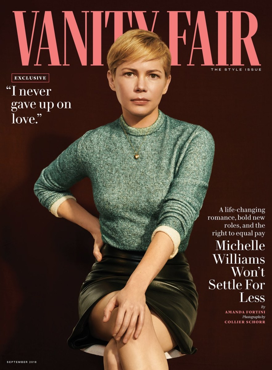 Michelle Williams on the cover of Vanity Fair. Photo: Collier Schorr/Vanity Fair