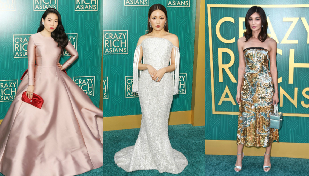 Awkwafina, Constance Wu and Gemma Chan. Photo: Getty Images