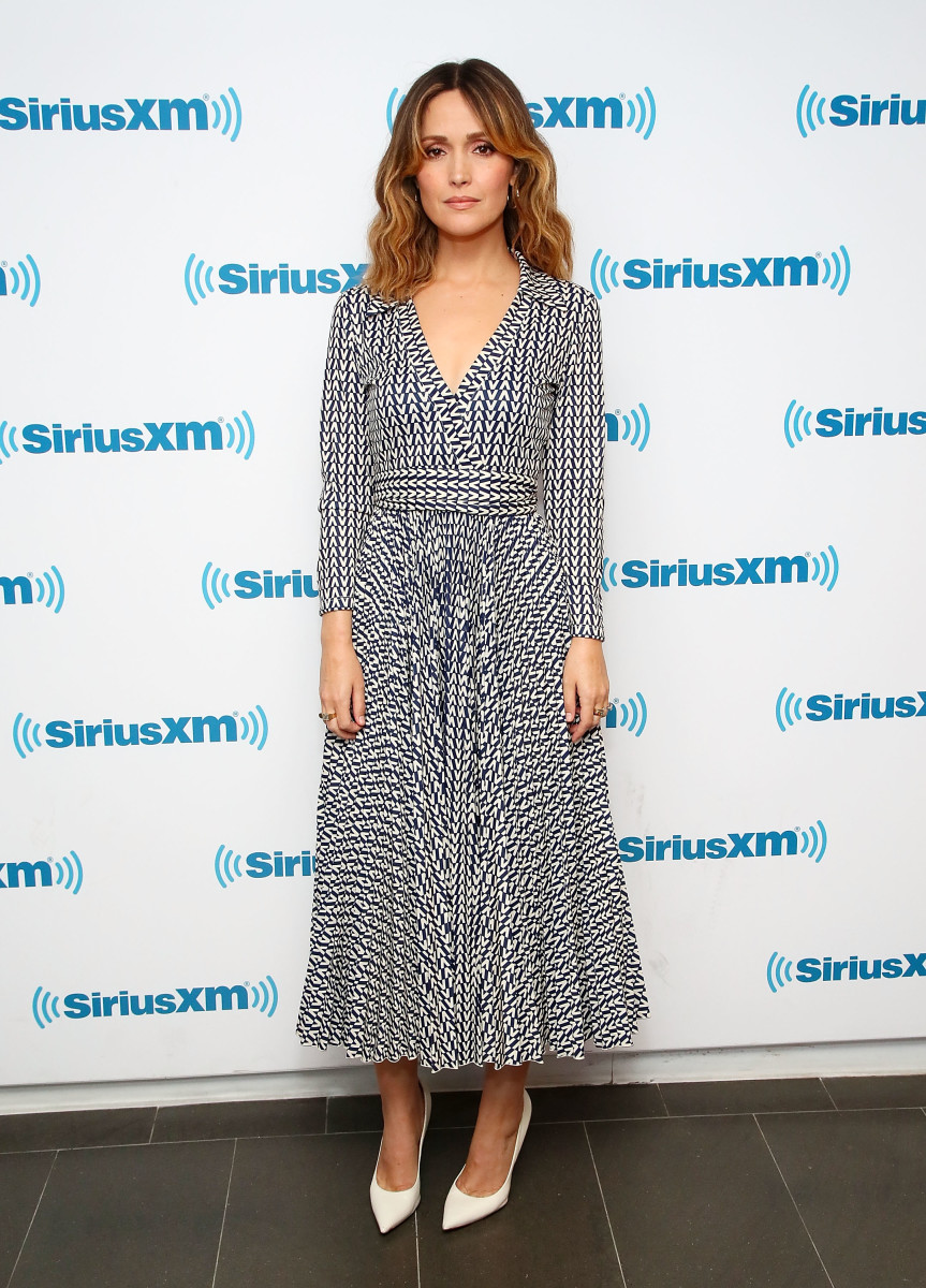 Rose Byrne in Valentino at the Sirius XM Studios in New York City. Photo: Astrid Stawiarz/Getty Images