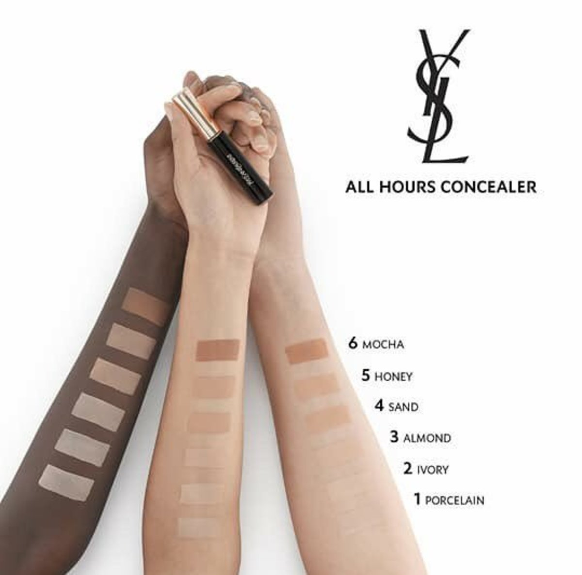 YSL's controversial swatches. Photo: YSL