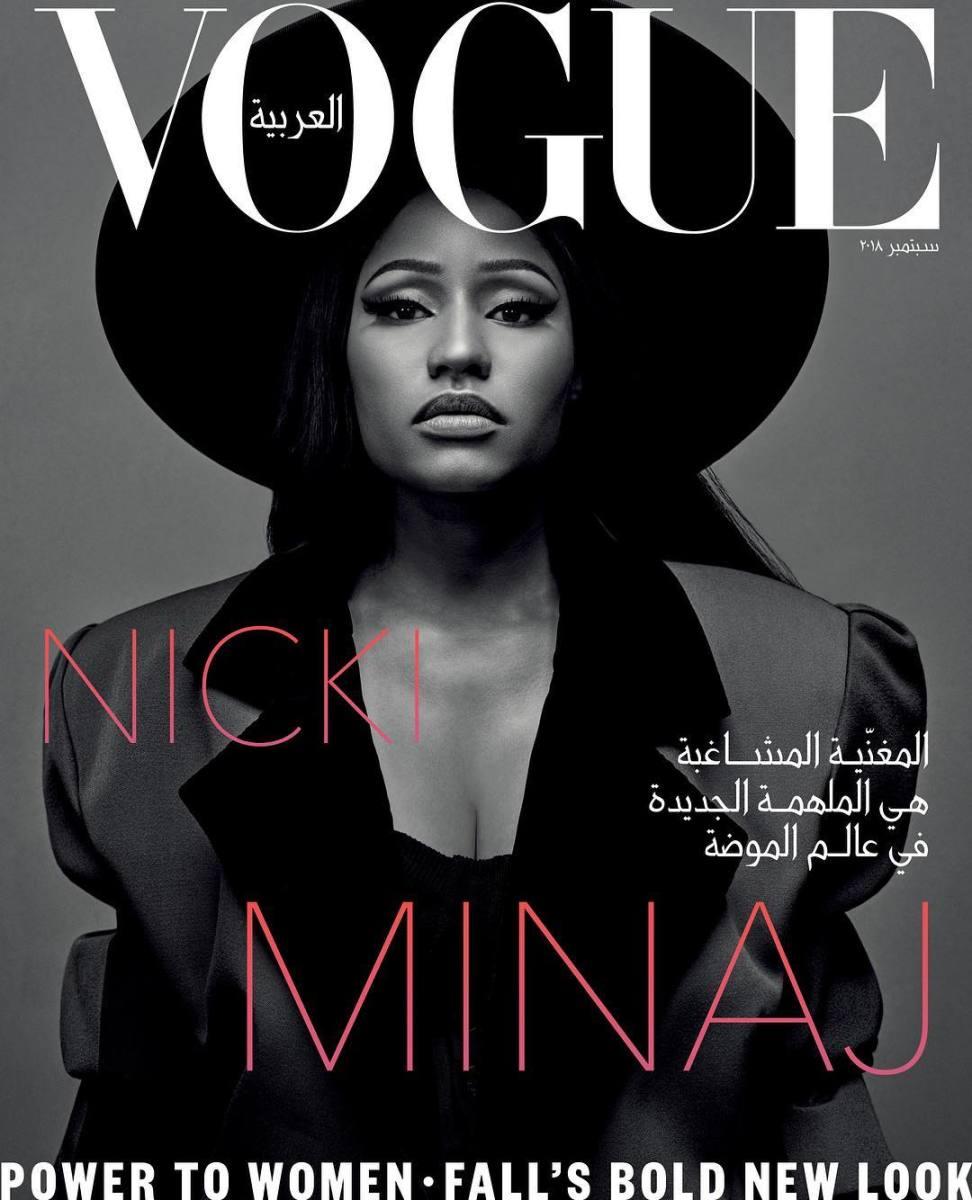 "Nicki Minaj on the September cover of ""Vogue"" Arabia. Photo: Emma Summerton"