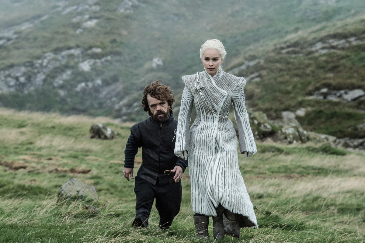 Tyrion (Peter Dinklage) and Daenerys (Emilia Clarke). Photo: Helen Sloane/HBO