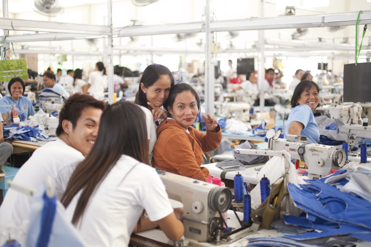 Inside a Cotopaxi factory in the Philippines. Photo: Cotopaxi