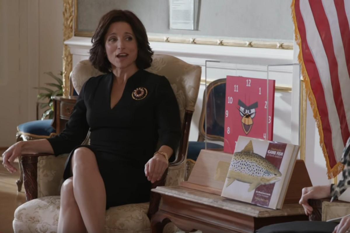 """Veep""'s Selina Meyer, in Season 2, Episode 5, ""Helsinki."" Screengrab: YouTube"