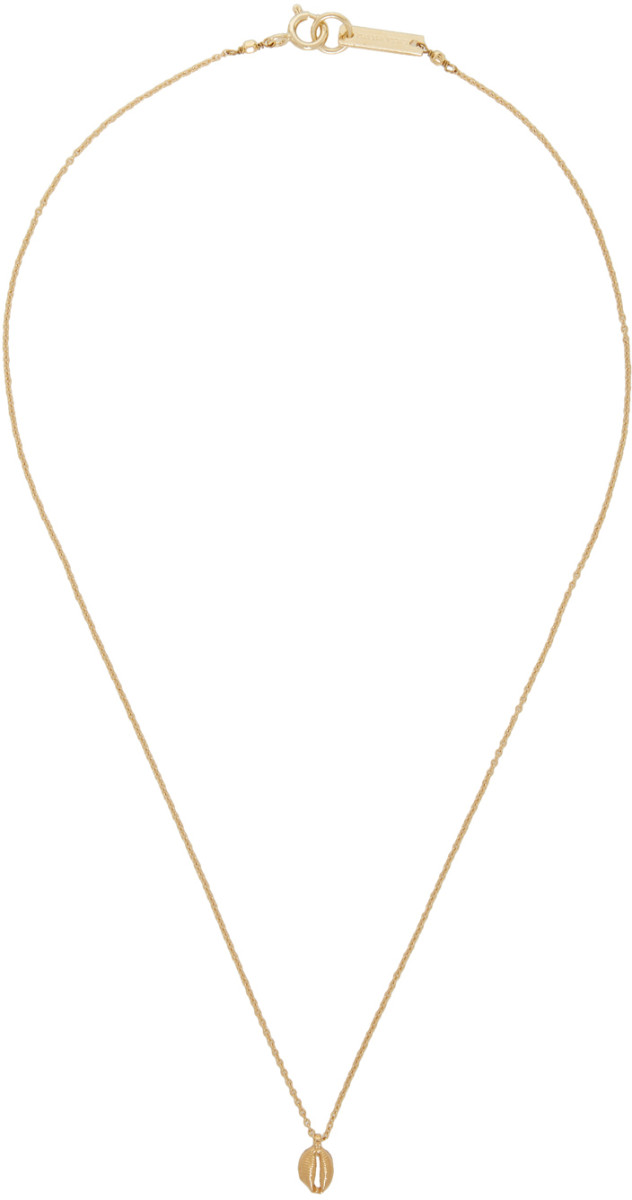 Isabel Marant gold shell necklace, $85, available here.