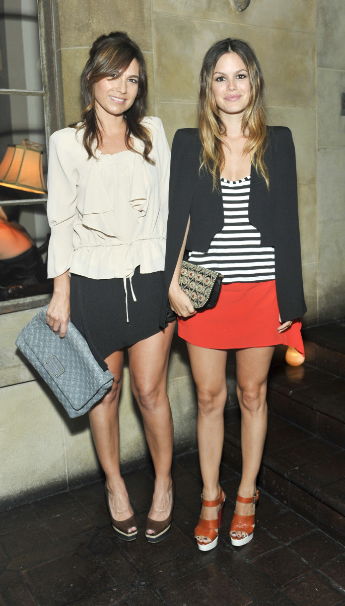 Nicole Chavez and Rachel Bilson at a Vanessa Bruno dinner at Chateau Marmont in 2010. Photo: Stefanie Keenan/Wireimage