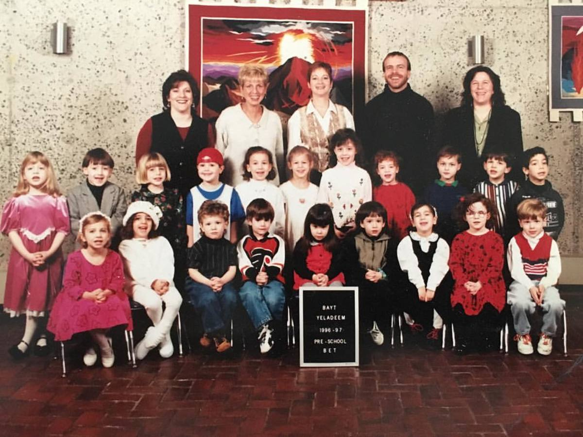 I have always been bigger than everyone else, as evidenced by this pre-school class photo where I am half of a head taller than anyone else in the back row. Photo: My mom