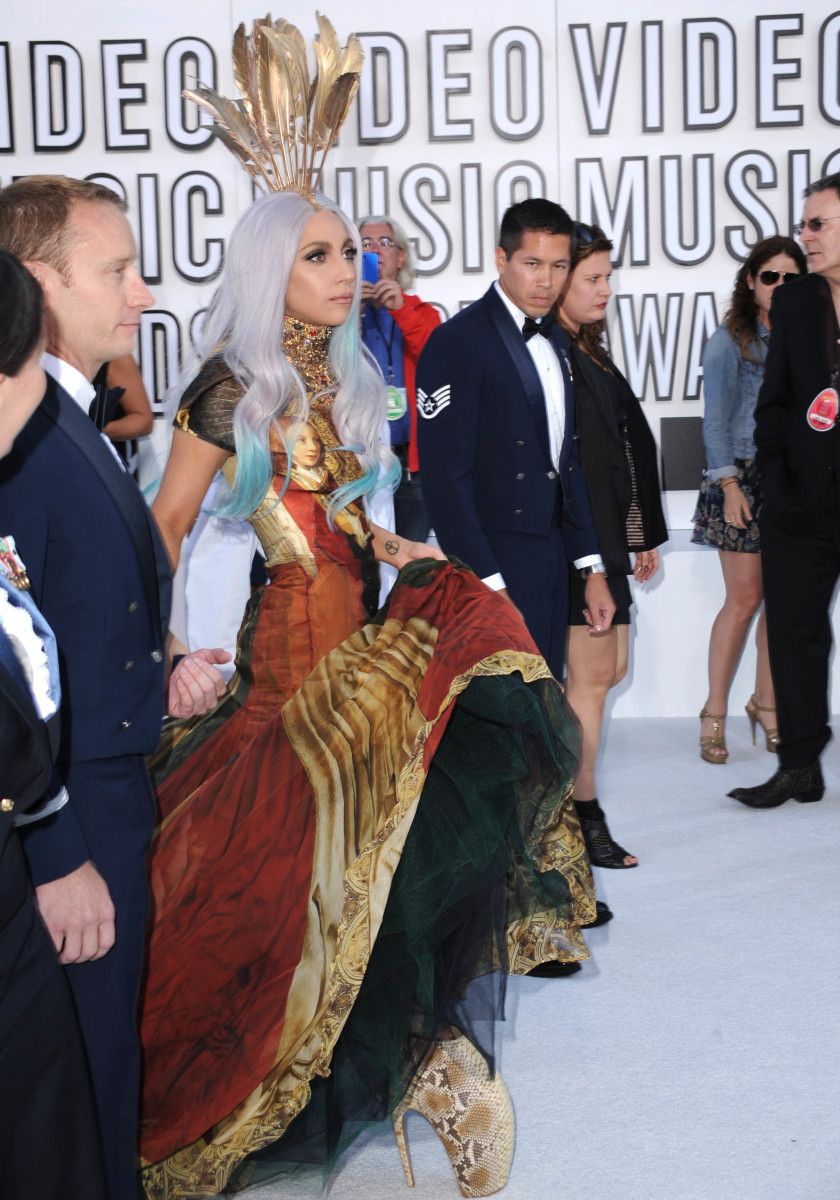 Lady Gaga in Alexander McQueen at the 2010 MTV Music Awards. Photo: Steve Granitz/WireImage