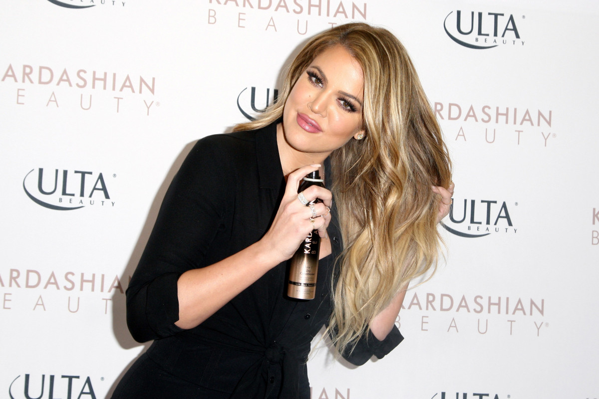 Khloé Kardashian at a 2015 event to promote Kardashian Beauty's hair care and styling line at Ulta. Photo: Tommaso Boddi/WireImage/Getty Images