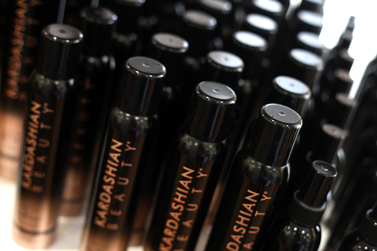 Products from the Kardashian Beauty hair-care range. Photo Tommaso Boddi/WireImage/Getty Images