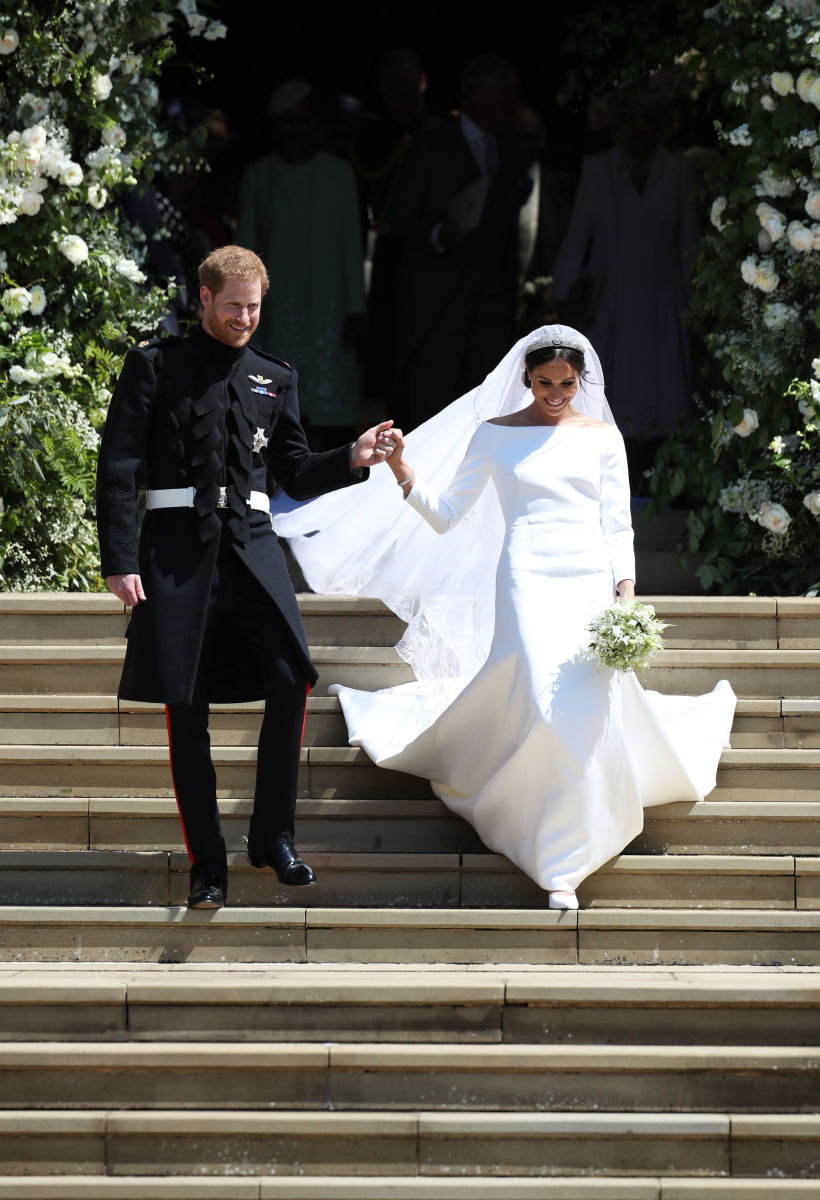 Duke and Duchess of Sussex Prince Harry and Meghan Markle on their wedding day. Photo: Ben Stansall/WPA Pool/Getty Images