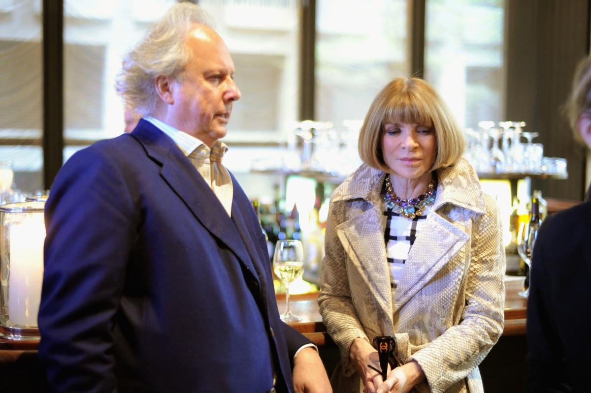 Graydon Carter and Anna Wintour. Photo: Dimitrios Kambouris/Getty Images
