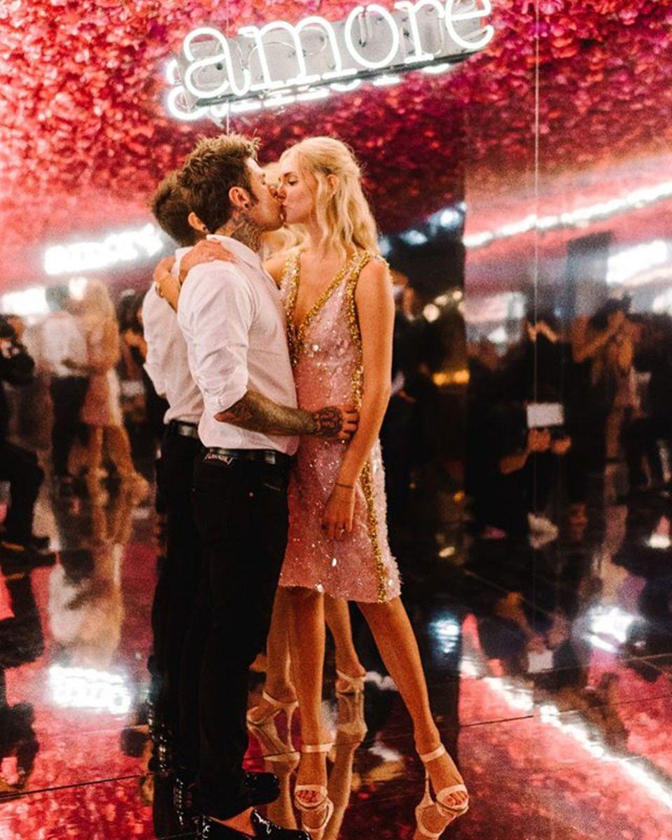 Chiara Ferragni and Fedez's Wedding: Instagram Moments