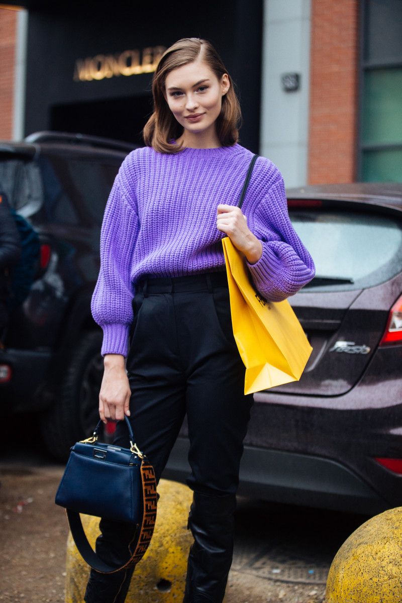 Grace Elizabeth after Fendi's Fall 2018 show during Milan Fashion Week. Photo: Melodie Jeng/Getty Images