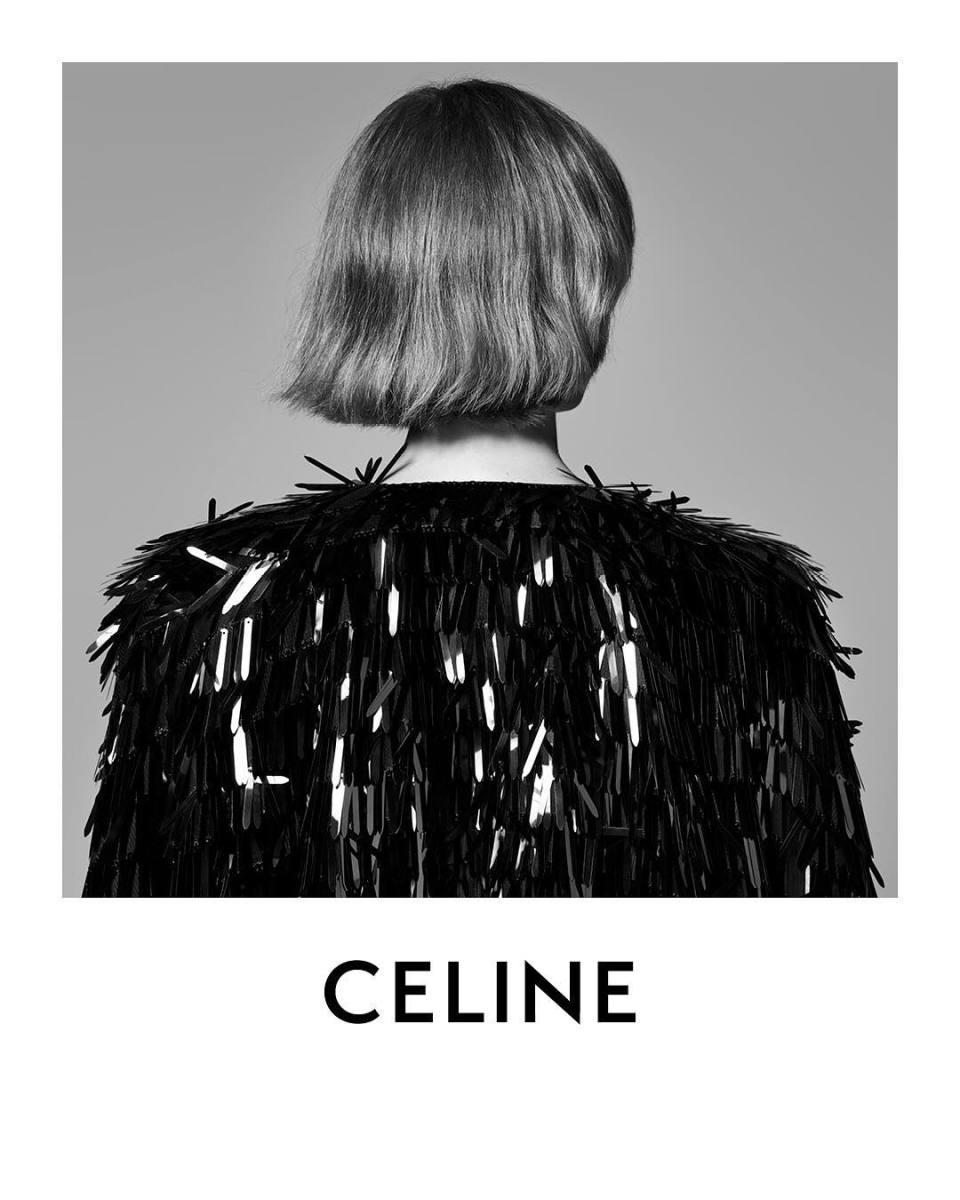 The new Celine logo by Hedi Slimane. Photo: @celine/Instagram