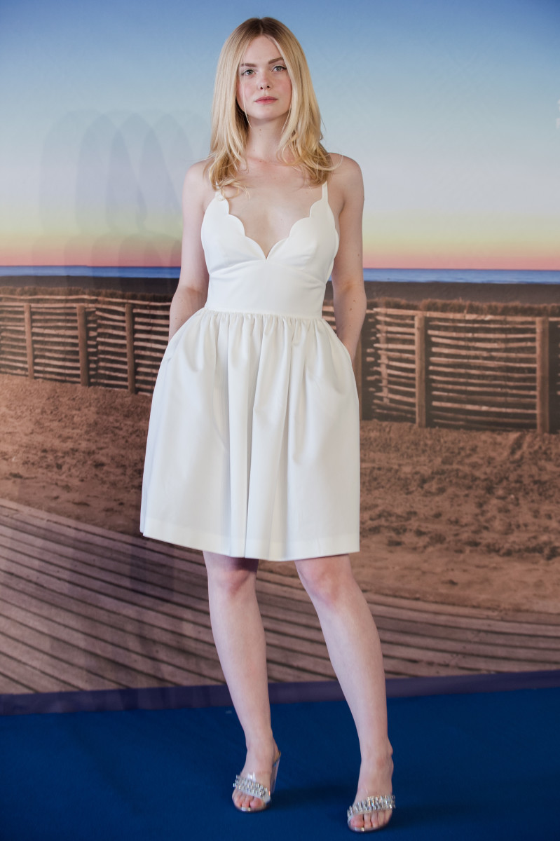 Fanning in Miu Miu at a photocall to present the film 'Galveston' during the Deauville Film Festival in Deauville, France. Photo: Francois Durand/Getty Images