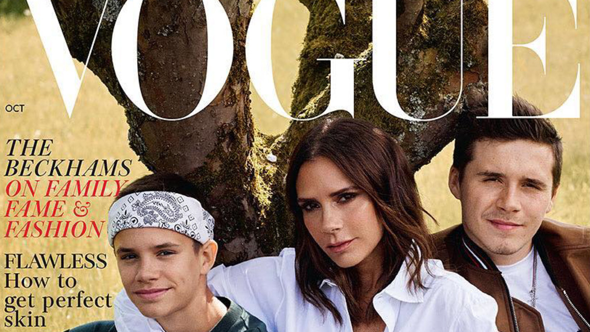 Must Read The Beckham Family Covers Vogue Uk Img