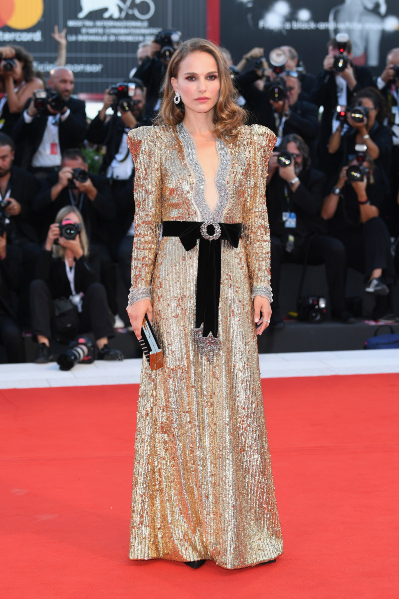 Natalie Portman in Gucci at the Venice Film Festival. Photo: Daniele Venturelli/WireImage
