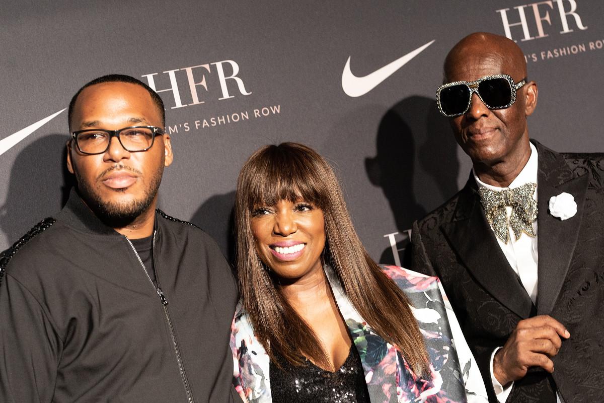 Jason Rembert, Mikki Taylor and Dapper Dan attend Harlem's Fashion Row. Photo: Paul Zimmerman/WireImage