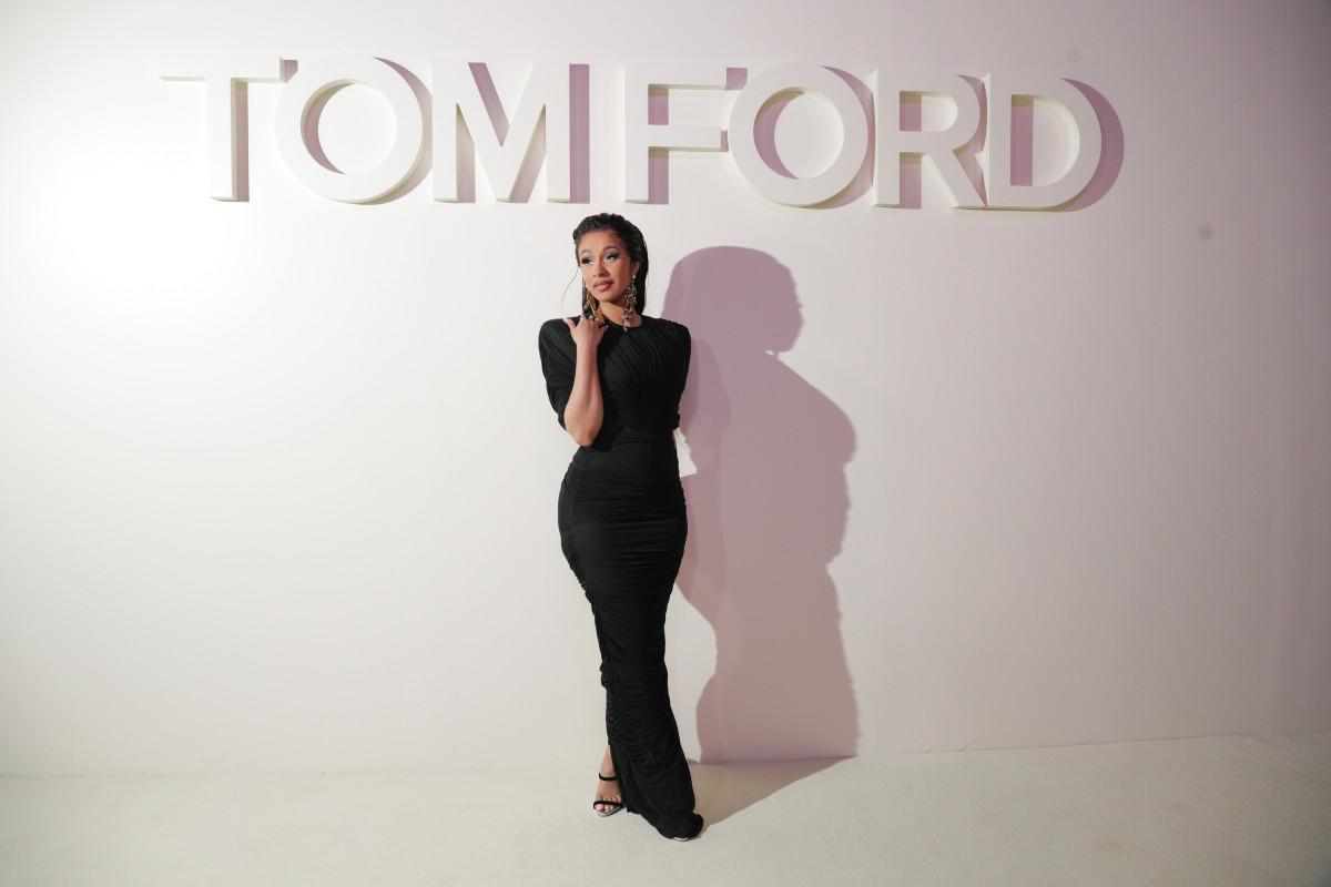 Cardi B at Tom Ford's Spring 2019 runway show during New York Fashion Week. Photo: Tom Ford/Courtesy of BFA