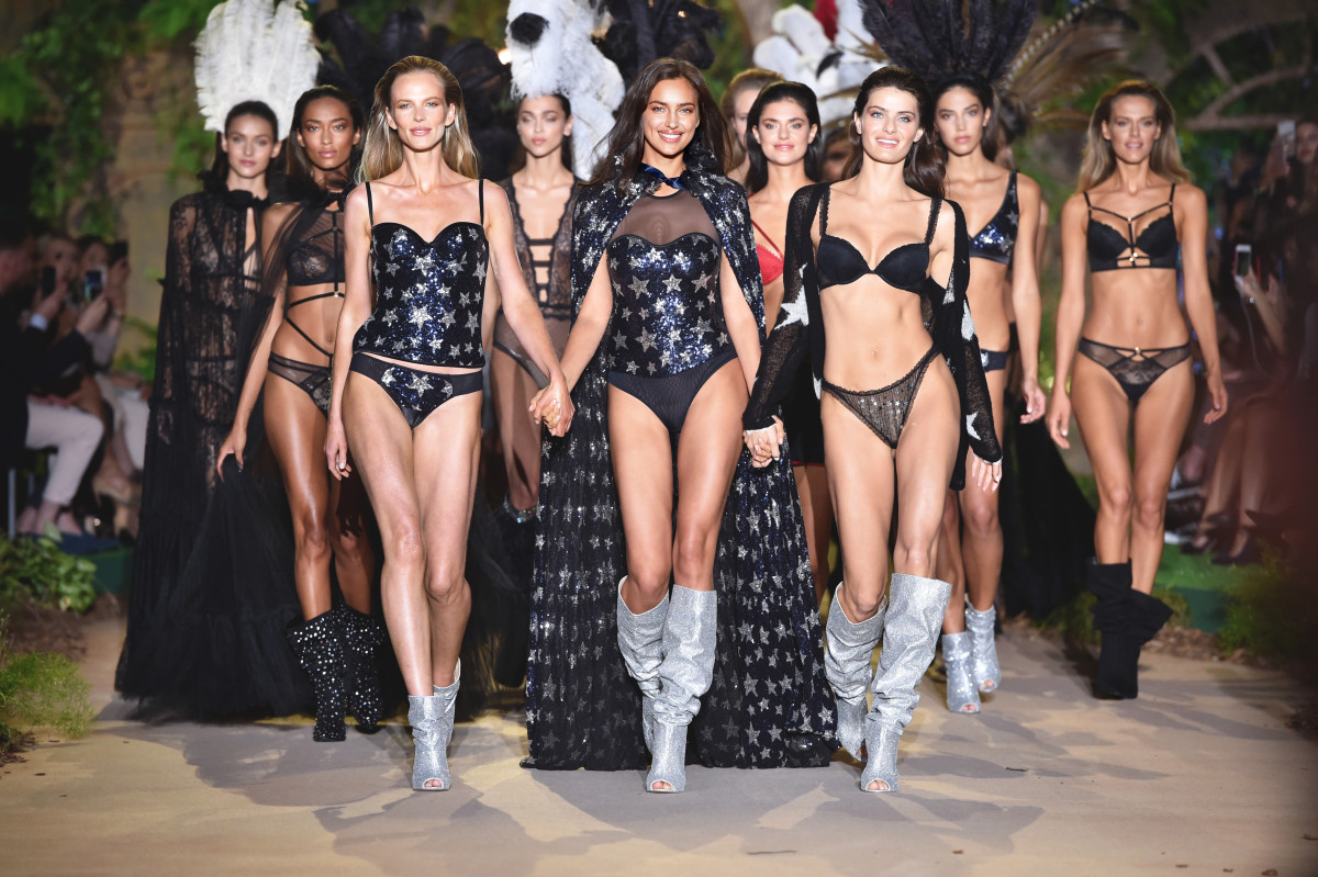 Looks from Intimissimi's Fall 2018 runway show. Photo: Courtesy of Intimissimi