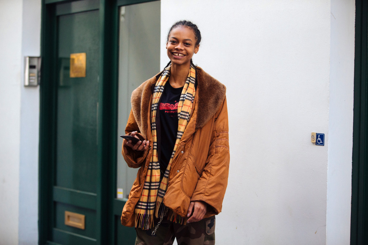 Model Aaliyah Hydes during London Fashion Week's Fall 2018 season. Photo: Melodie Jeng/Getty Images