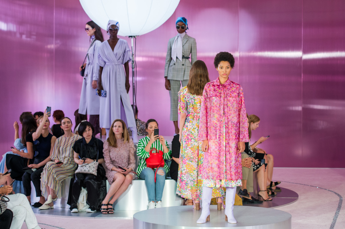 Looks from Kate Spade's Spring 2019 runway show. Photo: Imaxtree