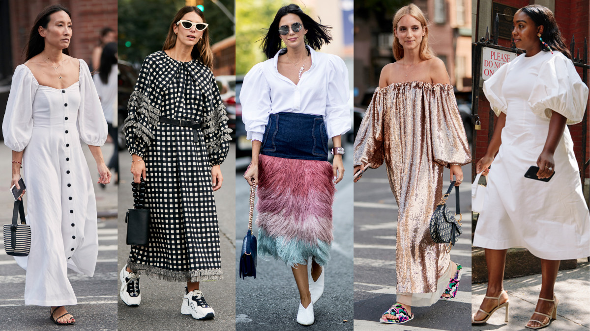 The Street Style Crowd Wore Big, Billowy Sleeves on Day 1 ...