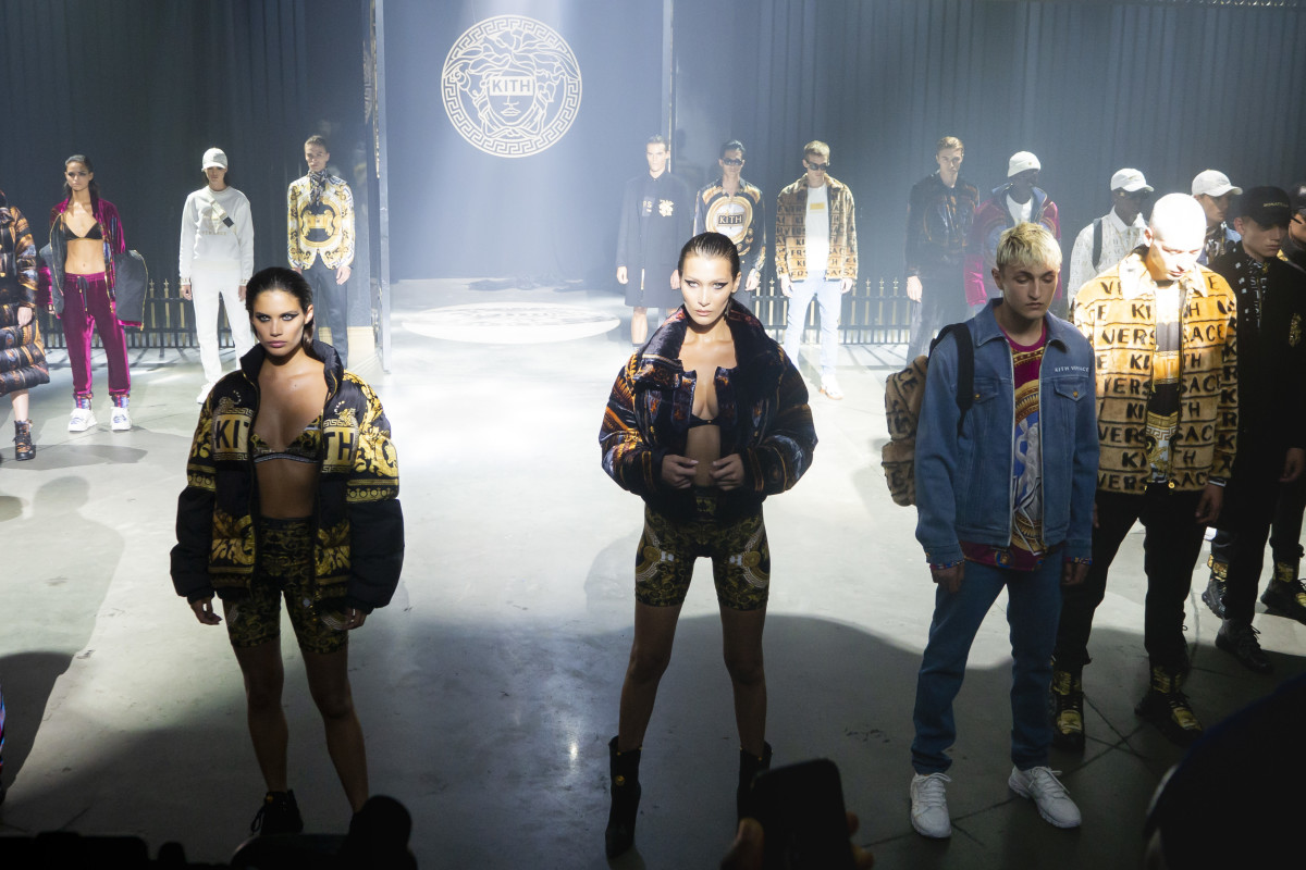 The Kith x Versace collaboration finale. Photo: Imaxtree