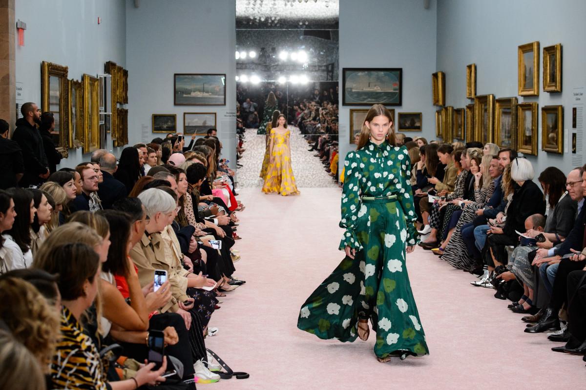Looks from Carolina Herrera's Spring 2019 runway show. Photo: Imaxtree