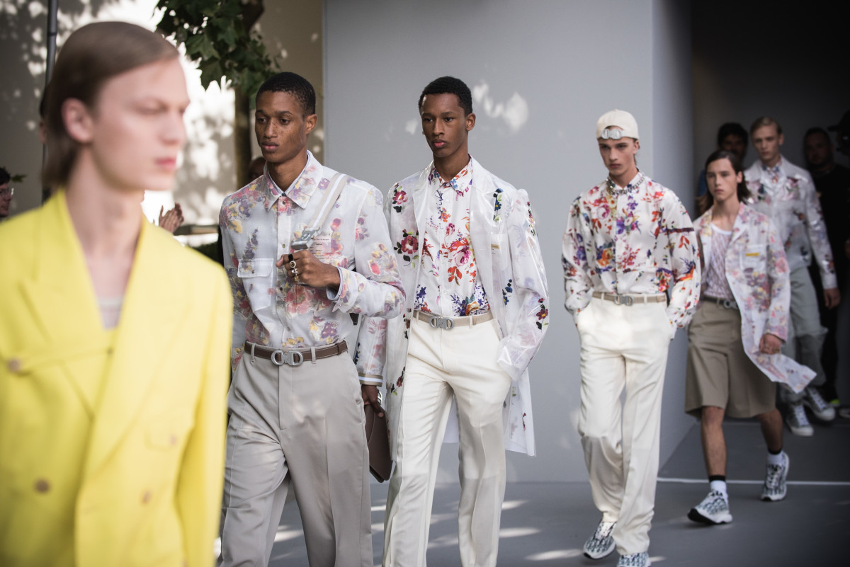 Looks from Dior Homme's Spring 2019 runway show. Photo: Francois G. Durand/WireImage