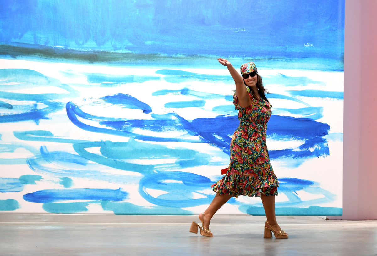 Ashley Graham walks the Michael Kors Spring 2019 runway. Photo: Larry Busacca/Getty Images