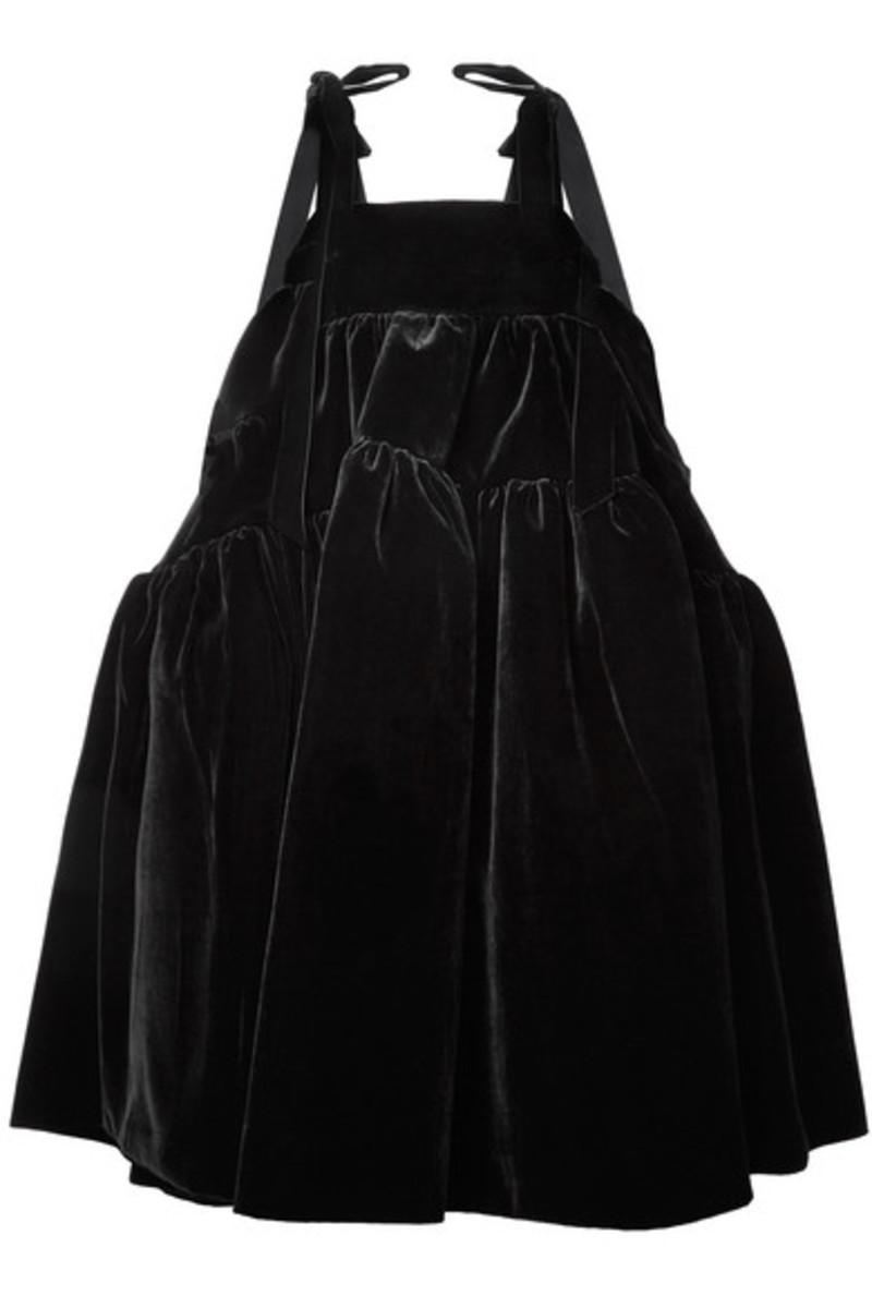 Cecilie Bahnsen Bey velvet midi dress, $2,615, available here.