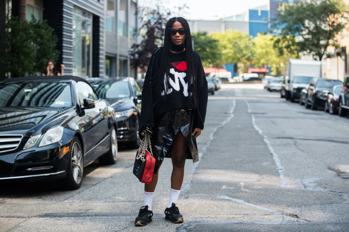 Jan-Michael Quammie at New York Fashion Week. Photo: Melodie Jeng/Getty Images