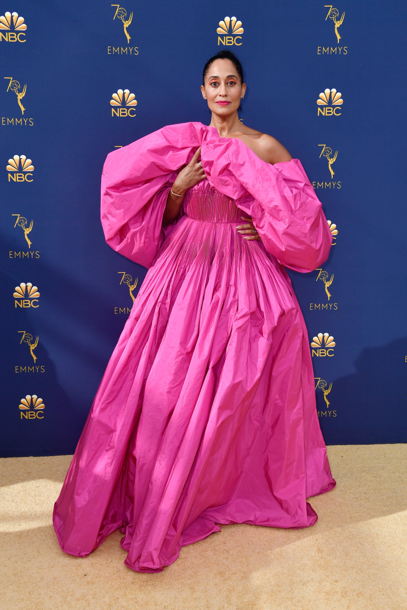 Tracee Ellis Ross in Valentino Haute Couture at the 2018 Emmys. Photo: Frazer Harrison/Getty Images