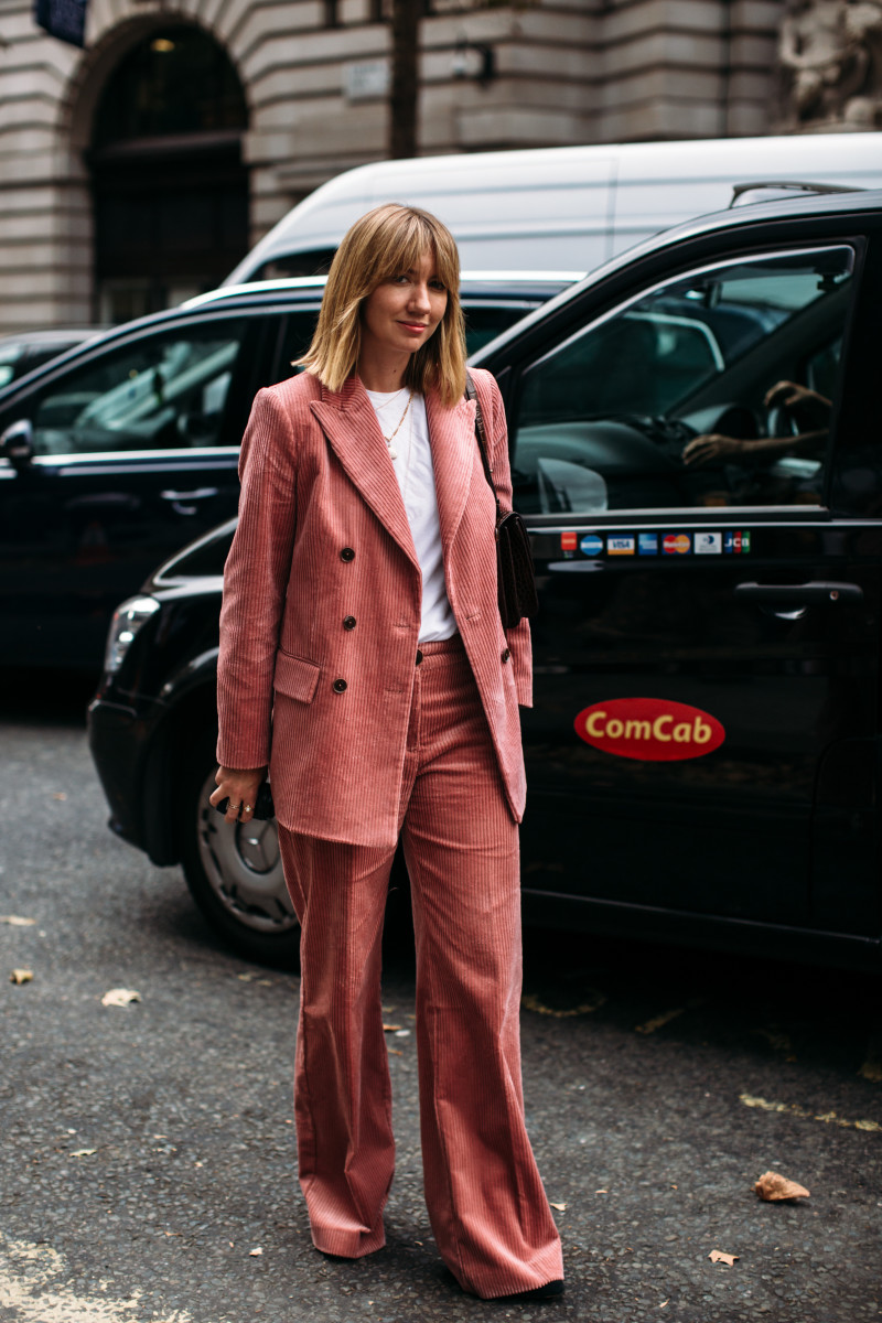Lisa Aiken at London Fashion Week in September 2018. Photo: Imaxtree