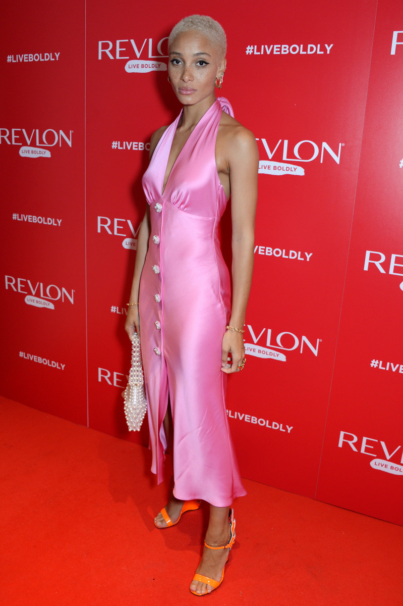 "Adwoa Aboah at the Revlon ""Live Boldly"" party in London on Tuesday. Photo: David M. Benett/Getty Images"