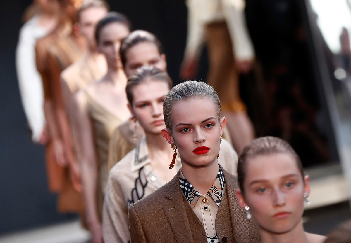 The finale for Burberry's Spring 2019 collection, designed by Riccardo Tisci. Photo: John Phillips/BFC/Getty Images