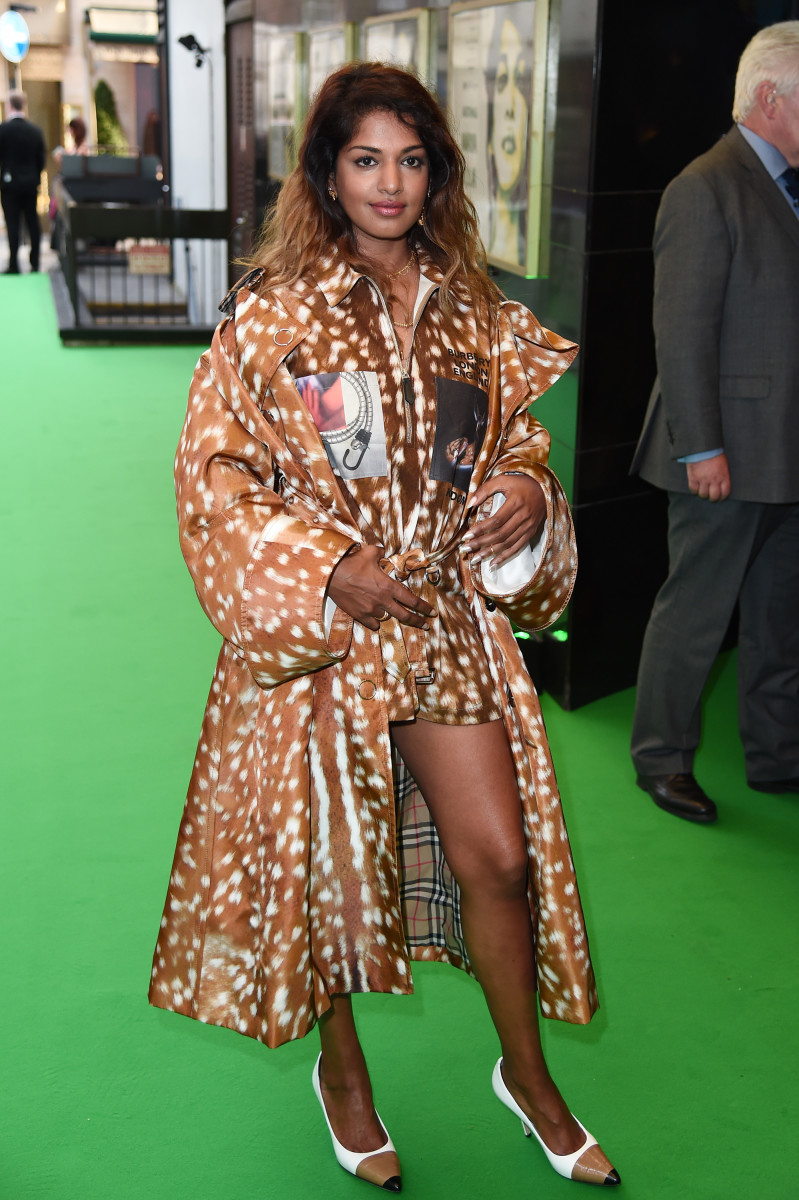 M.I.A. wearing the brand-new Burberry collection in London. Photo: Eamonn M. McCormack/Getty Images