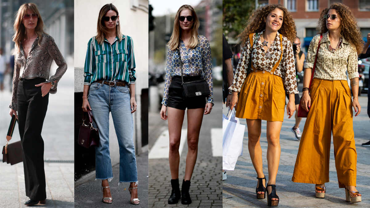 The Street Style Crowd Wore Printed Button-Down Shirts on ...