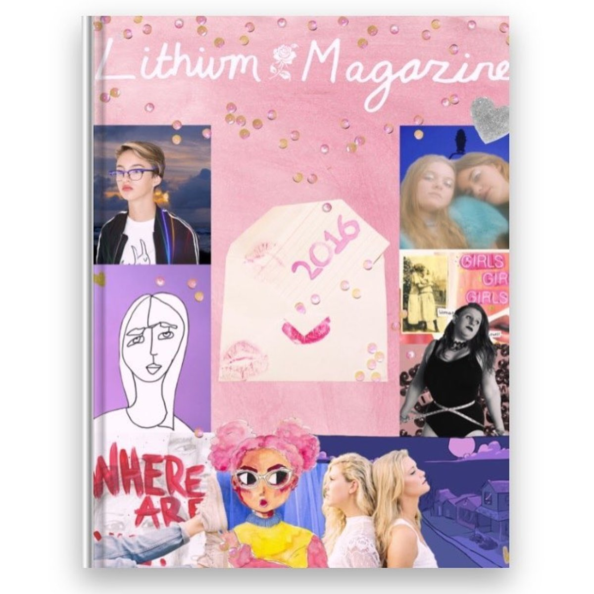 Lithium Magazine's 2016 yearbook. Photo: Kathryn Zix/@lithiumagazine/Instagram