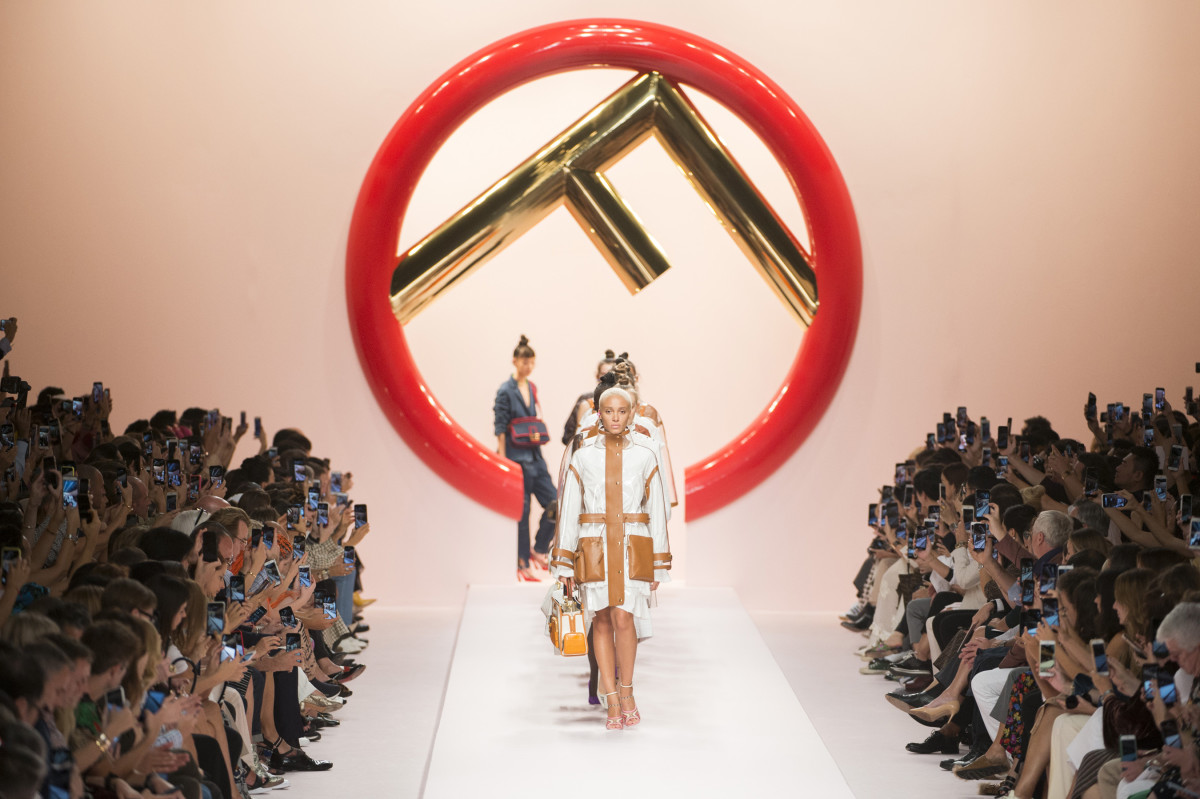 The finale at Fendi's Spring 2019 show. Photo: Imaxtree