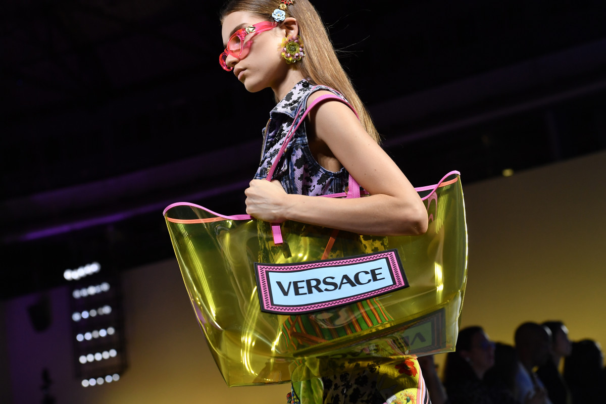 ac71b3a3cde2 A look from Versace s Spring 2019 runway show. Photo  Jacopo Raule Getty  Images
