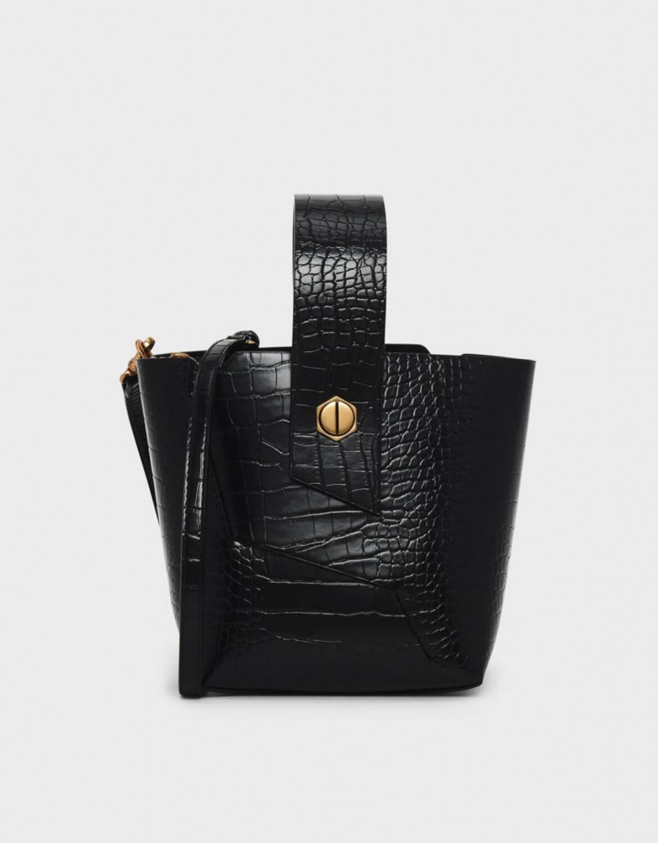 Charles & Keith Black Wristlet Handle Bucket Bag, $69, available here.