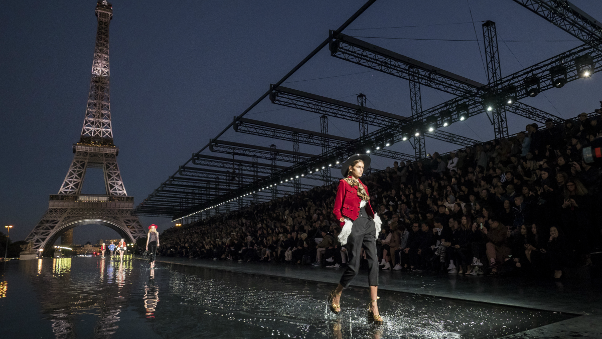 Anthony Vaccarello S Glam Rockers Walk On Water At Saint Laurent
