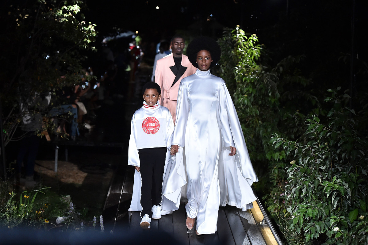 The Pyer Moss Spring 2019 runway finale. Photo: Theo Wargo/Getty Images